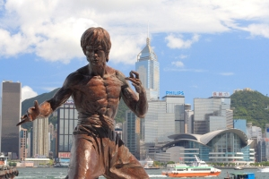 A statue of Bruce Lee displayed on Hong Kong's Avenue of Stars.